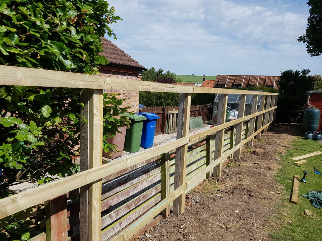 Fencing during our work