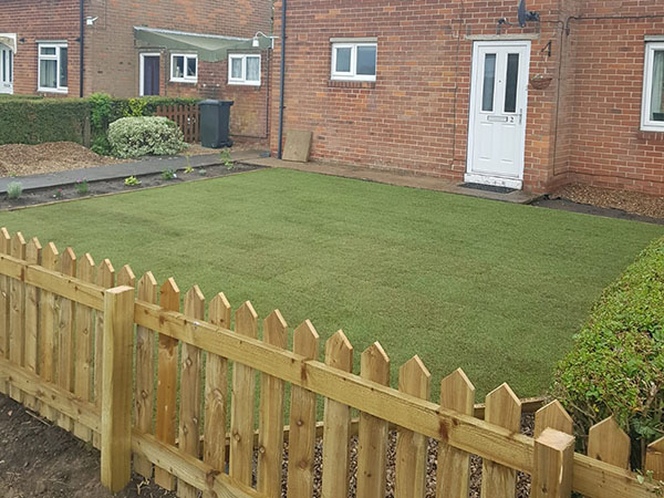 New lawn and fence
